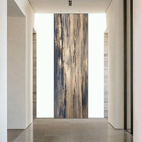 "Gemälde Mix Media ""Abstract-Bronze"" 115x275cm Abstrakt"