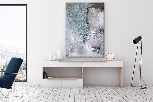 """Gemälde Mix Media, Handgemalt """"Abstrakt"""" 70x100cm KUNST by VICTORIA"""