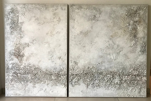XXL Acrylbild Abstrakt auf Leinwand 180x120cm 2tlg.
