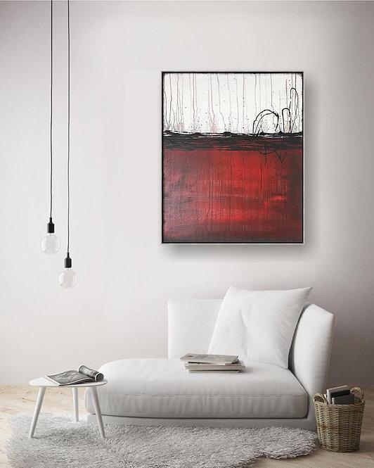 "Modernes Acrylbild ""ABSTRAKT"" auf Leinwand 50x60cm"