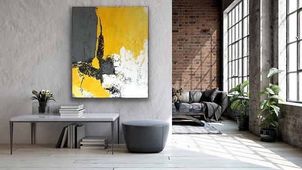 "Acrylbild Abstrakt auf Leinwand 100x120cm ""Abstrakt"""""