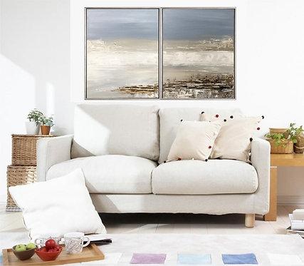 """Acryl Gemälde """"SEA VEW I"""" 80x50cm Acrylbild Abstrakt, Modern"""