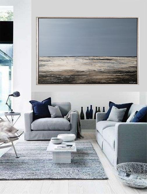 """Acryl Gemälde """"SEA VEW III"""" 120x80cm Acrylbild Abstrakt, Modern"""