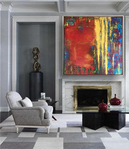 "Acryl Gemälde Abstrakt, Handgemalt ""DELIGHT"" 80x80 KUNST by VICTORIA"