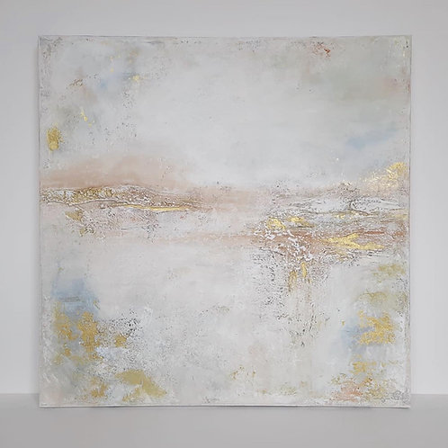 "Acrylbild Abstrakt auf Leinwand 70x70cm ""ABSTRACT-PASTEL"""