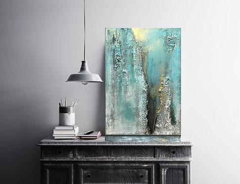 """Acryl Gemälde , Handgemalt 50x70cm """"FRESH BREEZE"""" Abstrakte Kunst by VICTORIA"""