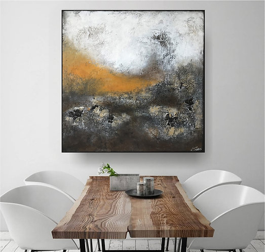 "Acryl Gemälde ""THE LIBERATION II"" 90x90 Abstrakt"