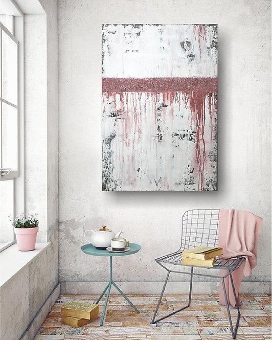 """cryl Gemälde 70x100cm """"CORAL"""" Acrylbild Abstrakt, Modern"""