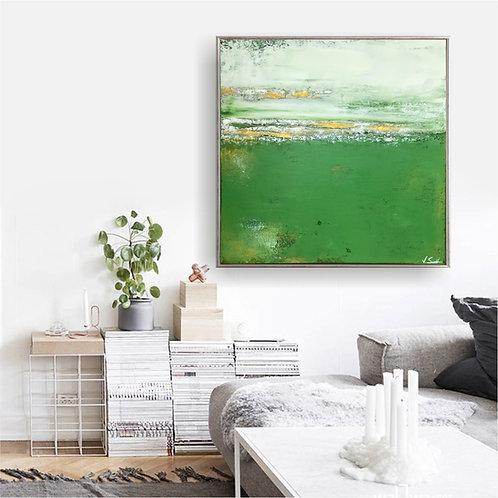 """Acryl Gemälde Abstrakt, Handgemalt """"CALM"""" 80x80 KUNST by VICTORIA"""