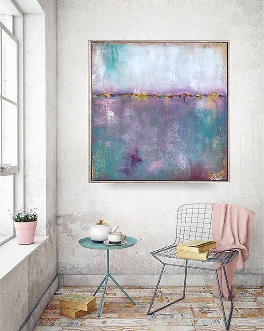 """Acryl Gemälde """"JOY"""" 70x70cm Abstrakt"""