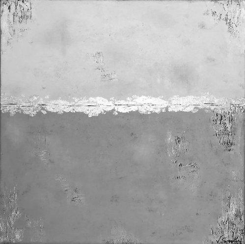 """Gemälde """"Abstract I"""" 80x80cm Abstrakt mit Blattgold KUNST by VICTORIA"""