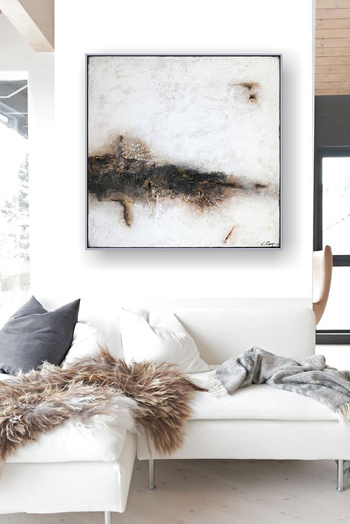 "Acryl Gemälde Abstrakt, Kunst ""BREAKTROUGH"" 80x80cm"