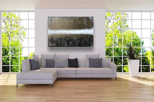 "XXL Acryl Gemälde ""Light Rise UP"" 120x80cm Abstrakt"