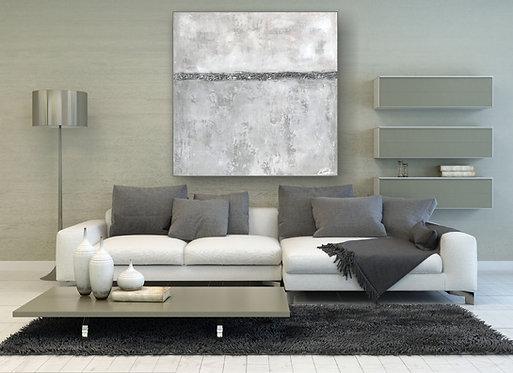 """Acryl Gemälde """"STONE"""" 80x80cm Abstrakt"""