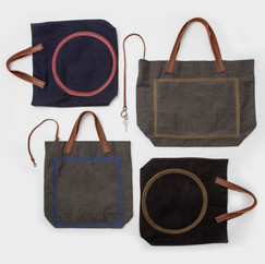 Wax Coated Cotton Stitched Bags