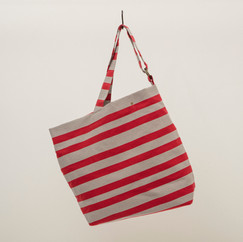 Recycled Cotton Stripes Asymmetrical Bag