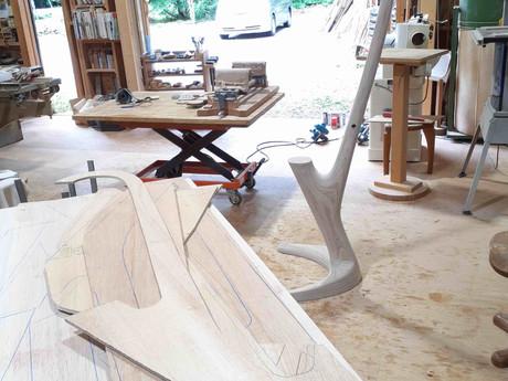 合板木工、久しぶりにやってます。