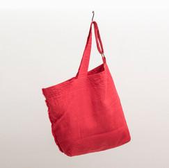 Linen Asymmetrical Shoulder / RED
