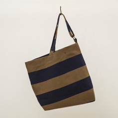 Recycled Cotton Stripes Asymmetrical Bag
