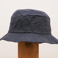 Wax Coated Cotton Hat / Short Brim / NAVY