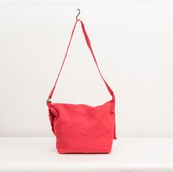 Linen Round Flap Shoulder / RED