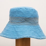Linen Stitched Hat / Wide Brim