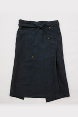 Linen Apron Long / DARK INDIGO