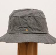 Wax Coated Cotton Hat / Short Brim / GRAY