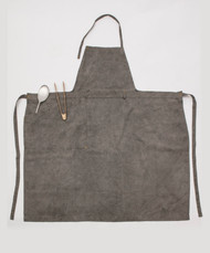 Linen Apron Standard / Side Pocket / DARK SUMI