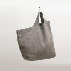 Linen Asymmetrical Tote / DARK SUMI