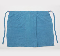 Linen Apron Long / LIGHT INDIGO