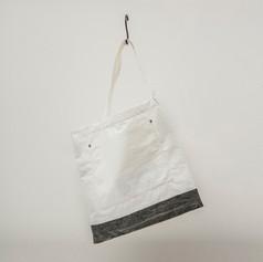 Cotton White & Charcoal Asymmetrical Flat Shoulder