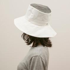 Cotton White & Charcoal Hat