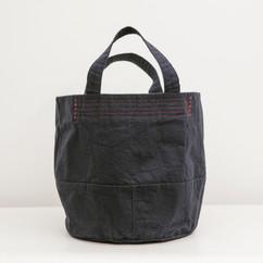 Wax Coated Cotton Bucket Bag Large