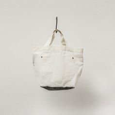 Cotton White & Charcoal Tote Small