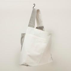 Cotton White & Soot Asymmetrical One Shoulder