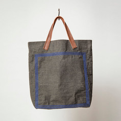 Wax Coated Cotton Stitched Bag Middle