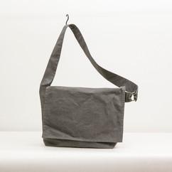 Wax Coated Cotton Asymmetrical Flap Shoulder