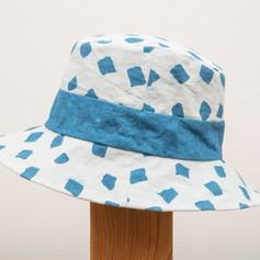 Cotton Indigo Block Print Hat