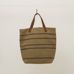 Recycled Cotton Stripes Tote Middle