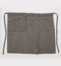 Linen Apron Long / DARK SUMI