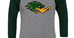 Duck Baseball Sleeve Raglan Logo Tee