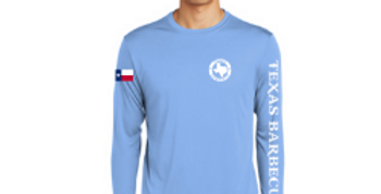 Long Sleeve Logo Tee - Carolina Blue