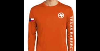 Long Sleeve Logo Tee - Orange