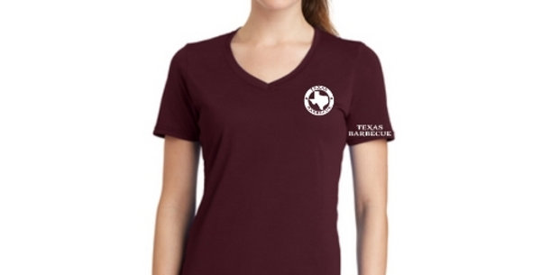 Ladies V-Neck Logo Tee - Custom Color