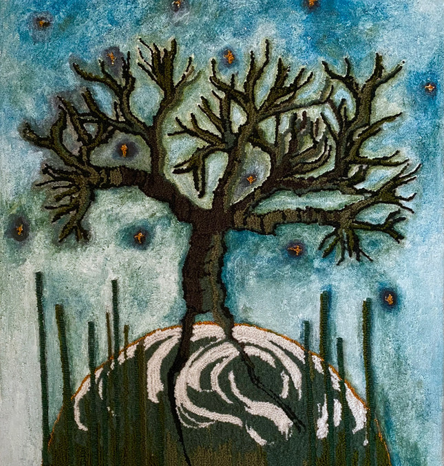 Dancing tree (2021) Tapestry -painting, take home scent