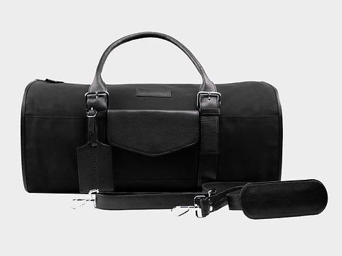 Barry Weekender Bag (Canvas + Leather)