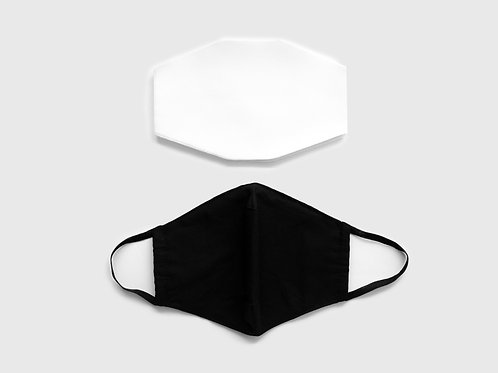 Washable Cotton Face Mask + Interchangable Filters