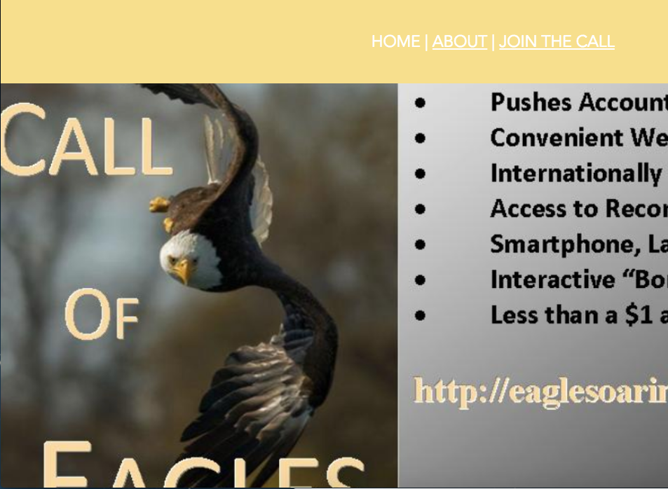 Sign Up For the Call Of Eagles