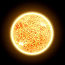 The Sun Isolated on Black - Elements of